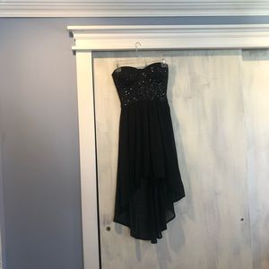 Tobi Black sparkly high-low dress